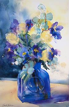 Iris and Tulips by Sarah Yeoman