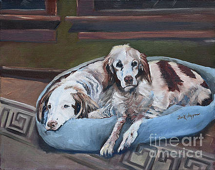Irish Red and White Setters - Archer Dogs by Jan Dappen