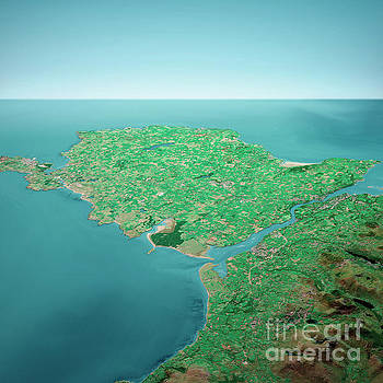 Frank Ramspott - Isle Of Anglesey 3D Render Aerial Horizon View From South Sep 20