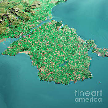 Frank Ramspott - Isle Of Anglesey 3D Render Aerial Landscape View From North Sep