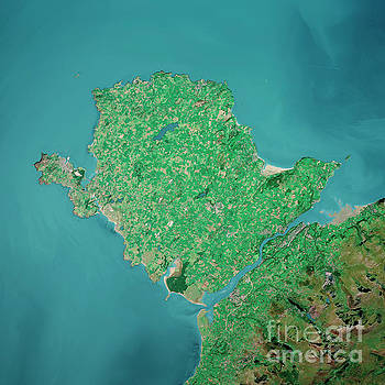 Frank Ramspott - Isle Of Anglesey 3D Render Aerial Top View Sep 2019