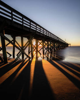 Isle of Palms Pier Light and Shadows by Donnie Whitaker