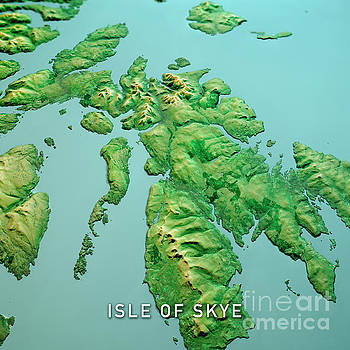 Frank Ramspott - Isle Of Skye Scotland 3D Render Topo Landscape View From North S