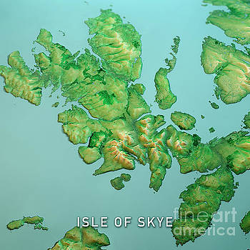 Frank Ramspott - Isle Of Skye Scotland 3D Render Topo Landscape View From South S