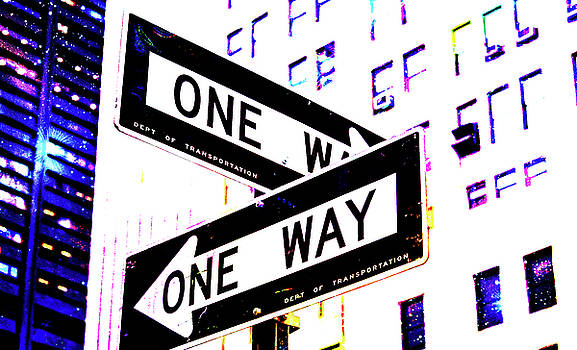 It Smells Like A One Way Street Sign In New York City by Ben Stein
