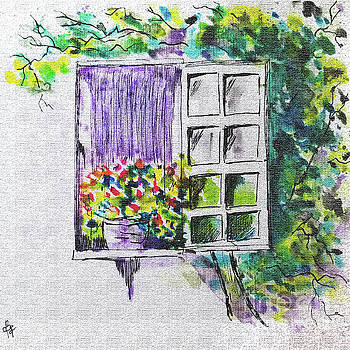 Ivy Window by Diane E Berry