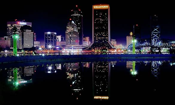 Frozen in Time Fine Art Photography - Jacksonville and Fountain Reflection