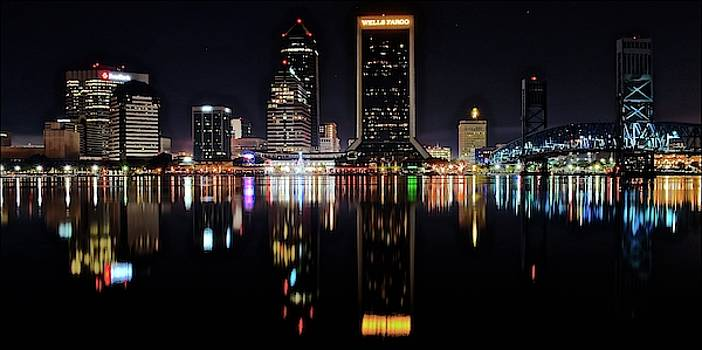 Frozen in Time Fine Art Photography - Jacksonville Night Panorama