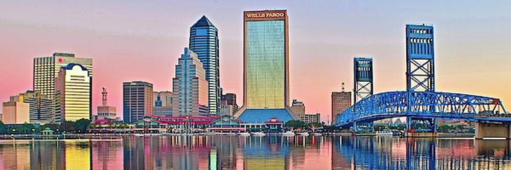 Frozen in Time Fine Art Photography - Jacksonville Pano at Sunrise