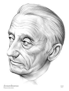 Jacques-Yves Cousteau by Greg Joens