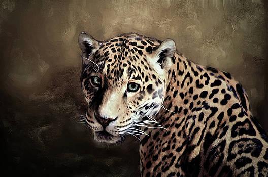Jaguar portrait  by Savannah Gibbs