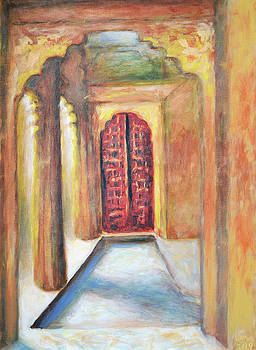 Jaisalmer 11 - Door inside a Haveli by Uma Krishnamoorthy