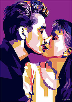 James Dean and Julie Harris by Stars on Art