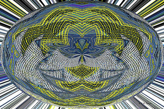 Janca Ovoid Color And Lines Abstract by Tom Janca