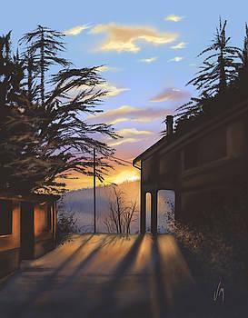 January sunset by Veronica Minozzi