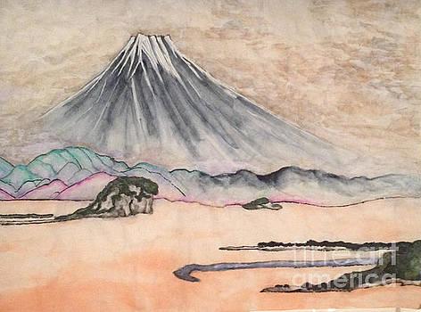 Japan art and Mount Fuji - Suzuki Kiitsu in color by Sawako Utsumi by Sawako Utsumi