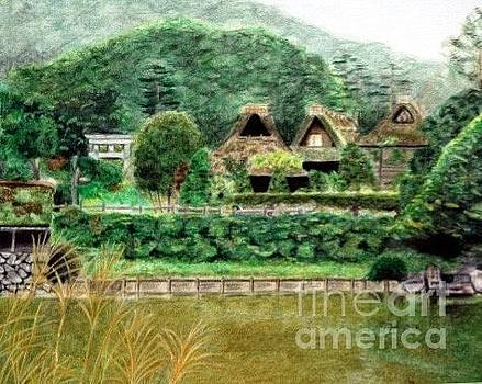 Japanese Farmhouse by Glenda Zuckerman