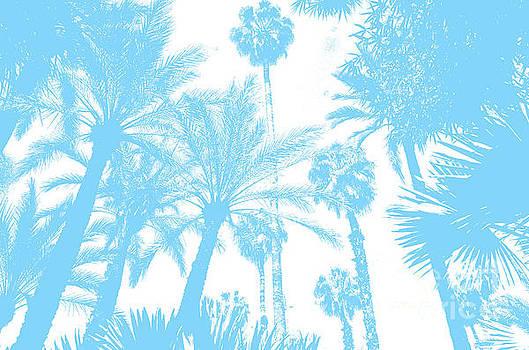 Jardin Majorelle Marrakech Palms Sky Blue 1 by Del Art