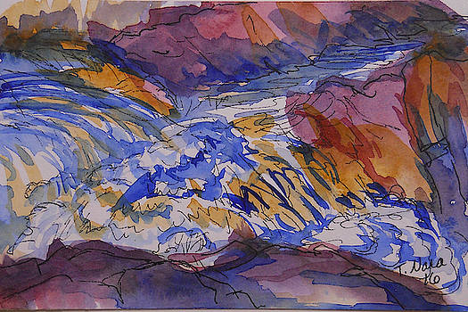 Jay Cooke Favorite Spot in Purple and Tan by Tammy Nara