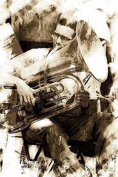 Jazz Musician In New Orleans by Toni Abdnour