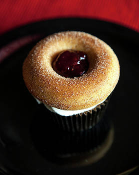 Jelly Donut Cupcake by Eric Christopher Jackson