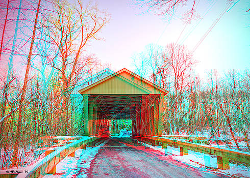 Jericho Covered Bridge 3D Anaglyph by Brian Wallace