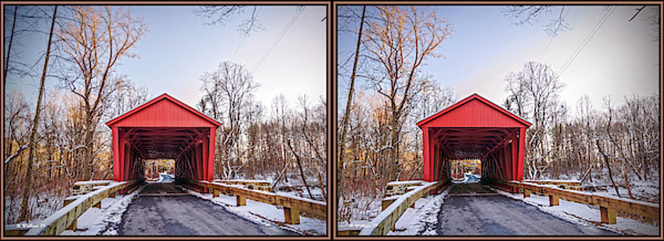 Jericho Covered Bridge 3D Stereo Crossview by Brian Wallace