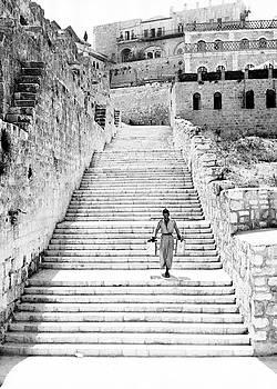 Jerusalem Wall Stairs by Munir Alawi