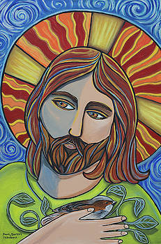 Jesus and Sparrow by Dawn Thibodeaux
