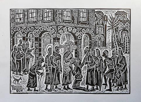 Jesus Christ heals the sick by Milen Litchkov