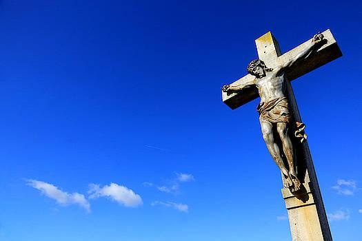 Jesus Christ Sur La Croix by Catherine Leblanc