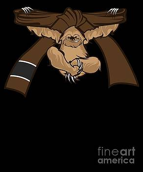 Jiu Jitsu BJJ Sloth Jiu Jitsu Brown Belt Light by J P
