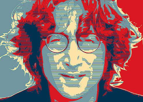 John Lennon 2 Simplified Obama Hope Poster Style by Tin Tran