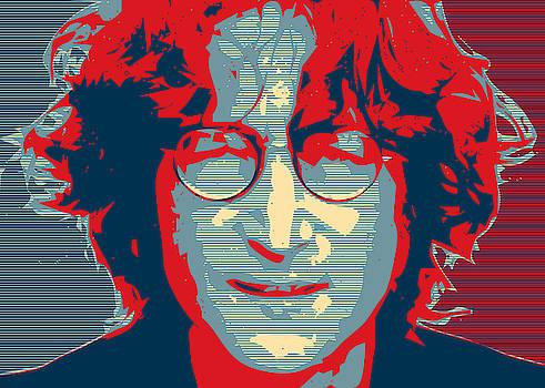 John Lennon Simplified Obama Hope Poster by Tin Tran