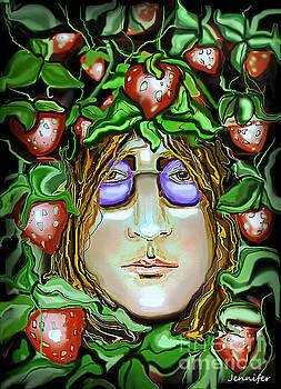 John Lennon Strawberry fields forever by Jennifer Miller