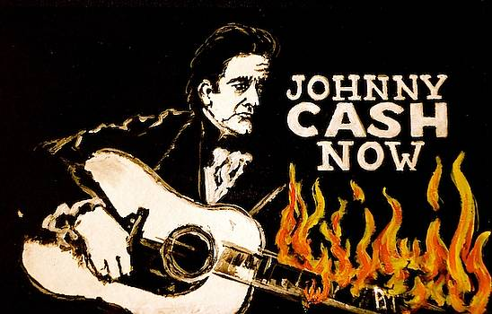 Johnny Cash Banner II by Pete Maier