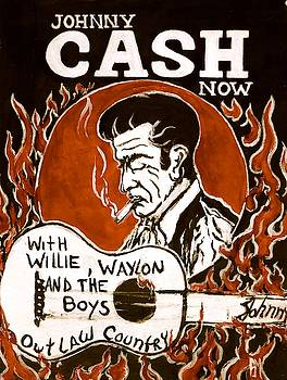 Johnny Cash poster II by Pete Maier