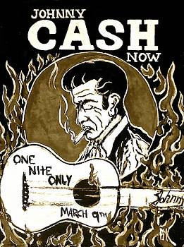 Johnny Cash Vintage poster  by Pete Maier