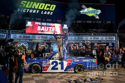 Johnny Sauter in the Winners Circle by Paul Quinn