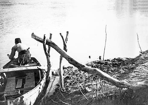 Jordan River Fisherman by Munir Alawi
