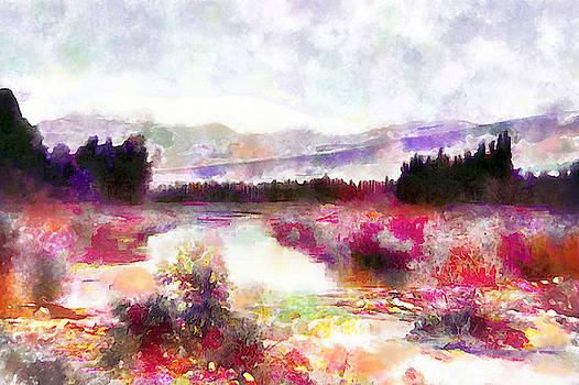 Jordan River in Colors by Munir Alawi