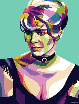 Julie Christie by Stars on Art