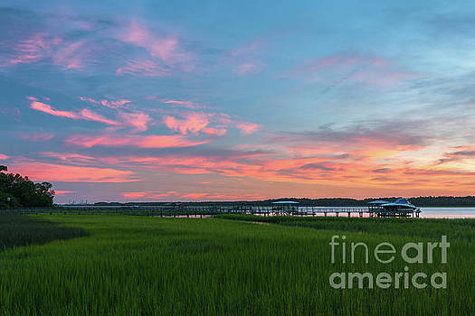 July 18, 2013 Sunset over the Wando River by Dale Powell