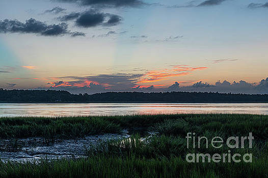 July 9 2019 Sunset - Wando River by Dale Powell