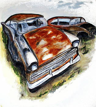 Junk Car No.10 by Clyde J Kell