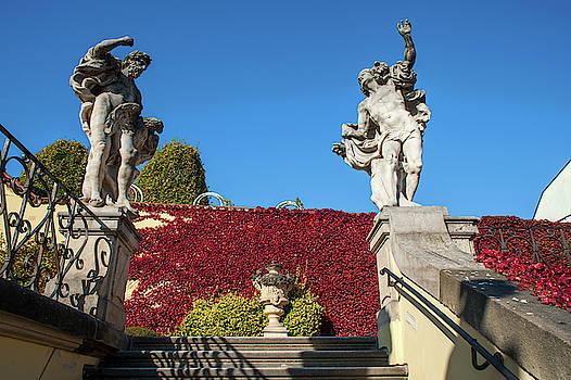 Jenny Rainbow - Jupiter and Mercury Statues 1. Vrtba Garden