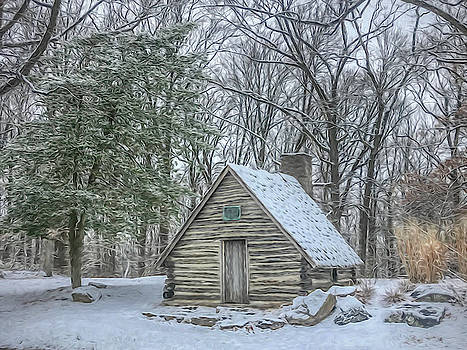 Just a Hut in the Snow by Jeff Oates Photography