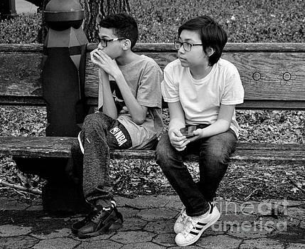 Just Being Kids - Central Park New York by Miriam Danar