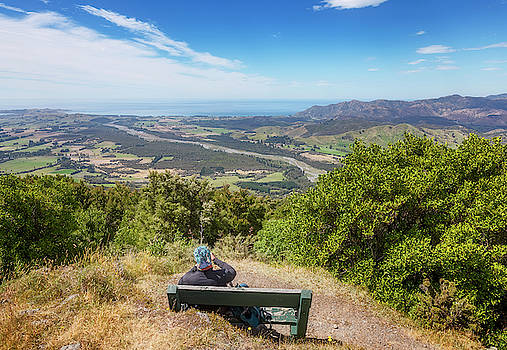 Kaikoura New Zealand Viewpoint by Joan Carroll
