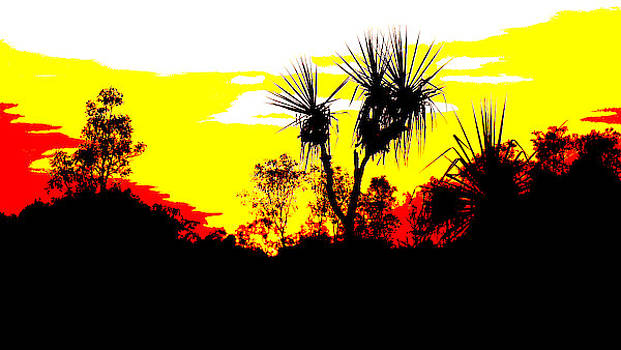 Kakadu Sunrise - Pop Art  by Lexa Harpell